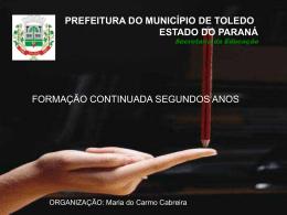 Conteúdo Alfabetização - Portal do Município de Toledo