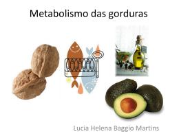Metabolismo das gorduras - Docente