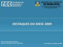 Os 10 municípios com maior Idese 2009
