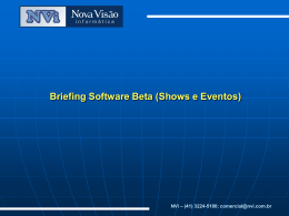 Briefing Software Beta (Shows e Eventos)