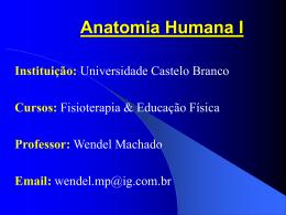 Anatomia Humana I - Universidade Castelo Branco