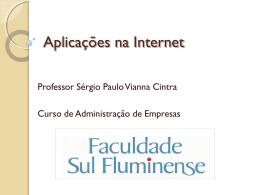 Aula 1 - Aplicações na Internet