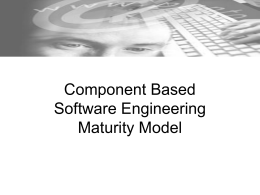 Component Based Software Engineering Maturity Model