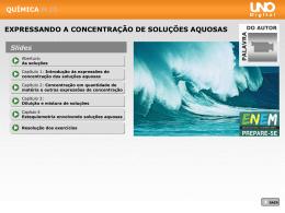 1 Introdução às expressões de concentração das soluções aquosas