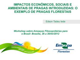 Impactos econômicos, sociais e ambientais de pragas introduzidas