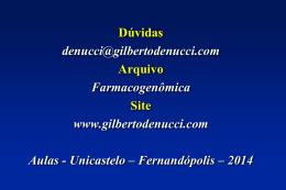 Farmacogenômica - Gilberto De Nucci . com