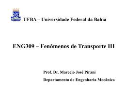Slide 1 - DEM - Departamento de Engenharia Mecânica >>UFBA