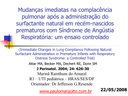 Immediate Changes in Lung Compliance Following Natural