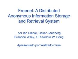 Apresentação - Walfredo Cirne