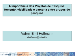 Seminário elaboração de propostas de pesquisa - CNPq