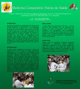 Medicina Comunitária: Feiras de Saúde