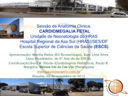 Cardiomegalia fetal - Paulo Roberto Margotto
