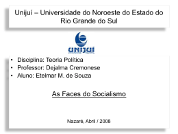 As faces do socialismo ppt
