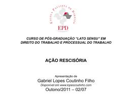 (Rescisória). - Gabriel Lopes Coutinho Filho