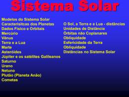 Estruturando e medindo o Sistema Solar