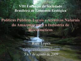Políticas Públicas Locais e Atrativos Naturais do Amazonas para a