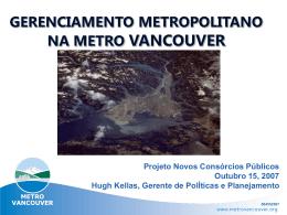 GERENCIAMENTO METROPOLITANO NA METRO VANCOUVER