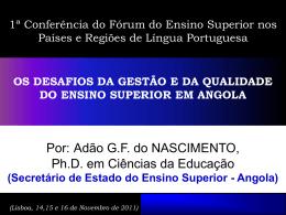 os desafios da gestão e da qualidade do ensino superior em angola