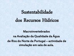 Sustentabilidade dos Recursos Hídricos Macroinvertebrados na
