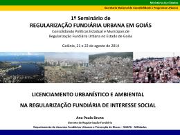 Licenciamento Urbanístico e Ambiental na Regularização Fundiária