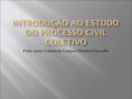 Noções Preliminares de Direito Processual Civil Coletivo