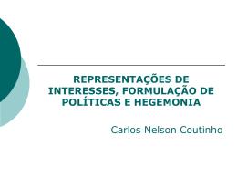 Representação de interesses formulação de políticas e hegemonia