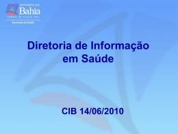 DIS CIB - Secretaria da Saúde