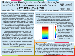Modelagem e Simulação de reações de oxirredução em