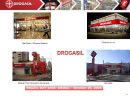 DROGASIL : Major Topics 2008