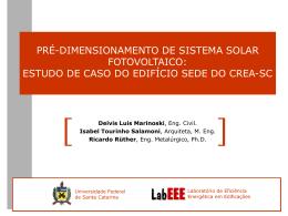 ENTAC 2004 – Pré-dimensionamento de sistema solar fotovoltaico
