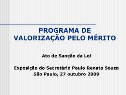 Programa de Valorização pelo Mérito