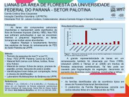 LIANAS DA ÁREA DE FLORESTA DA UNIVERSIDADE