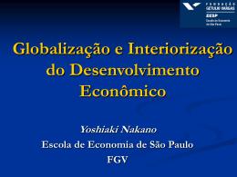 Globalização e Interiorização do