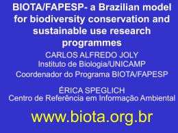 BIOTA/FAPESP - Centro de Referência em Informação Ambiental