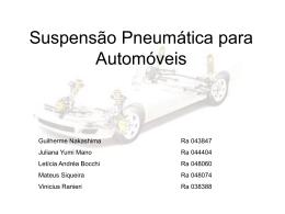 Suspensão Pneumática para automóveis