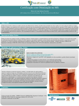 Sebrae - MS - RedeAPLmineral