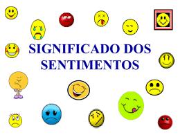 significado dos sentimentos alegria
