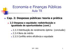 Economia e Finanças Públicas