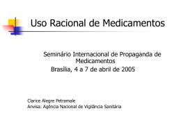 Clarice Petramale – Brasil / Rede de Hospitais Sentinelas