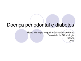 Doença periodontal e diabetes - CEM-HUSJ