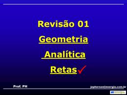 Revisão geometria analítica 01