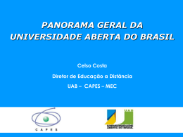 Panorama Geral da Universidade Aberta do Brasil.