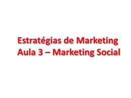 Aula 03 - MKT Social e Societal