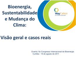 Bioenergia, Sustentabilidade e Mudança do Clima