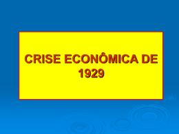 quebra da bolsa de valores 1929