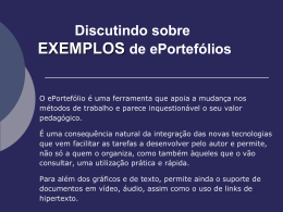 Discutindo sobre EXEMPLOS de ePortefólios