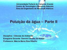 Poluição da Água - Área de Engenharia de Recursos Hídricos