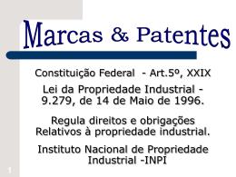 1. Registro de Desenho Industrial