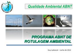 Programa de Qualidade Ambiental da ABNT – Beija Flor