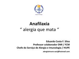 """Anafilaxia """" alergia que mata """""""